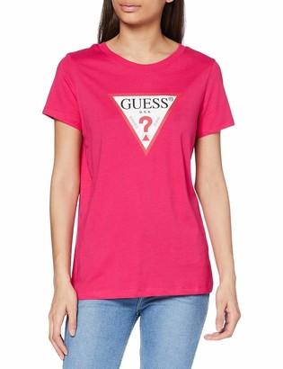 GUESS Women's Ss Cn Triangle Tee T-Shirt