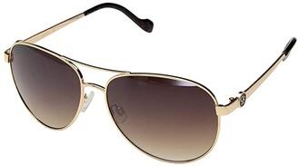 Jessica Simpson Metal Aviator (Gold/Tortoise) Fashion Sunglasses