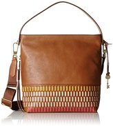 Fossil Maya, Women's Shoulder Bag, Braun (Pink Multi), 11 x 30 33 cm (wxhxd)