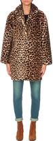 Sandro Boma leopard-print sheepskin coat