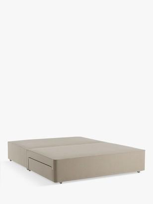 John Lewis & Partners Pocket Sprung 2500 2 Drawer Storage, Double Upholstered Divan Base, FSC-Certified (Pine)