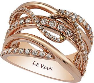 LeVian 14K Rose Gold 0.82 Ct. Tw. Diamond Ring