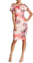 Blvd Off-The-Shoulder Floral Dress