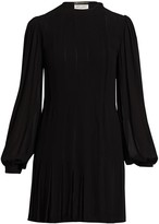 Saint Laurent Blouson Sleeve Mini Dress