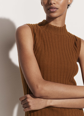 Vince Cashmere High Neck Shell