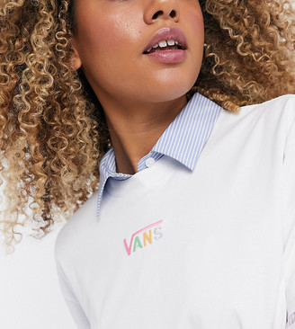 Vans Oversized chest logo t-shirt in white with pastel logo Exclusive at ASOS