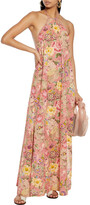 Thumbnail for your product : Anjuna Lucilla Floral-print Broderie Anglaise Cotton Halterneck Maxi Dress