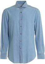 Brunello Cucinelli Denim Effect Cotton Shirt