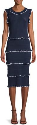 Alexia Admor Ruffle-Trimmed Sheath Dress