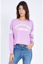 Select Fashion Fashion Beach Idea Crop Sweat Sweaters - size 6