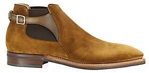 Corthay Men's Bernay Suede Buckle Ankle Boots