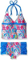 YMI Jeanswear Big Girls' Pool Party Two Piece Halter Tankini Swimsuit