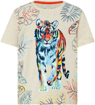 Monsoon Tiger Printed T-Shirt Camel