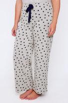 Yours Clothing Grey & Navy Spot Print Pyjama Bottoms