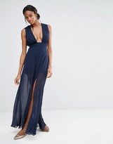 Missguided Deep Plunge Maxi Dress