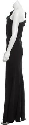 Carmen Marc Valvo Evening Dress Black