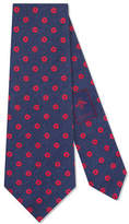 Gucci Dot pattern silk linen tie