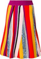 Kenzo Broken Stripes knit skirt
