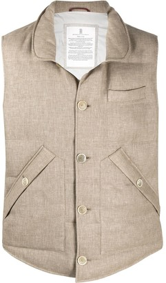 Brunello Cucinelli button-up padded gilet