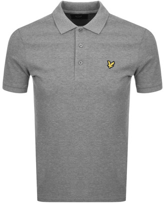 Lyle & Scott Short Sleeve Polo T Shirt Grey