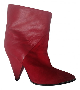 IRO Red Suede Ankle boots
