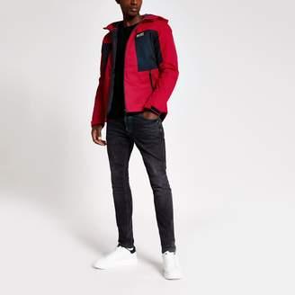 Jack and Jones Mens River Island Red lightweight jacket