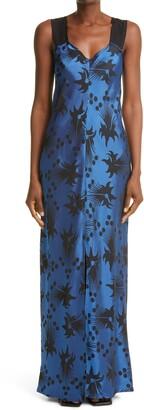 Zero Maria Cornejo Floral Jacquard Maxi Dress