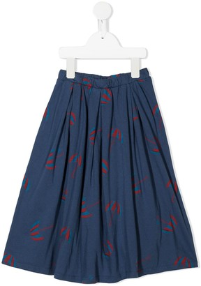 Bobo Choses Umbrella-Print Midi Skater Skirt