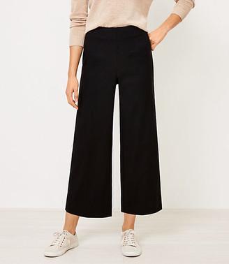 LOFT Petite Wide Leg Crop Pants