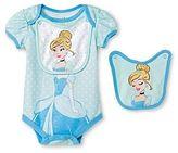 Disney Princess Disney Cinderella Newborn Bodysuit & 2 Bibs - Blue