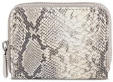 Mossimo Women's Faux Leather Wallet with Snakeskin Pattern and Zip Closure Gray