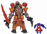 Hasbro Transformers Age of Extinction Construct-Bots Dinofire Grimlock and Optimus Prime Set by