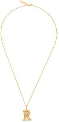 Chloé letter R pendant necklace