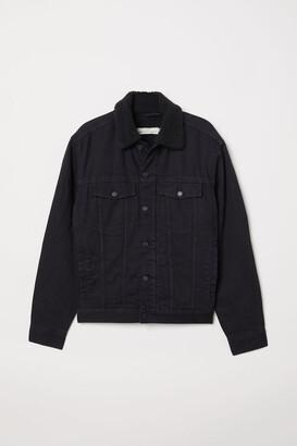 H&M Lined Denim Jacket - Black