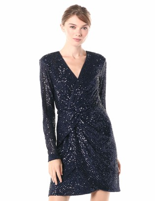 Parker Women's Philippa Long Sleeve V-Neck Cocktail Dress