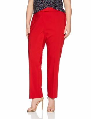 Anne Klein Women's Size Plus Crepe Slim Pant