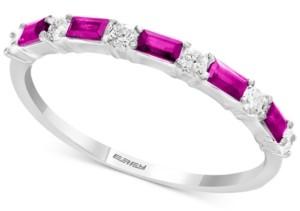 Effy Certified Ruby (1/3 ct. t.w.) & Diamond (1/8 ct. t.w.) Ring in 14k White Gold