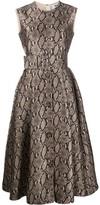 MSGM snakeskin print belted dress