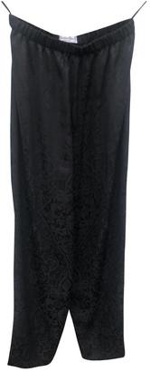 Christian Dior Black Silk Trousers