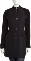 Laundry by Shelli Segal Colorblock Coat, Charcoal/Black