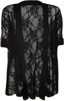 Commencer Womens Short Sleeve Lace Cardigan Top (L/XL, )
