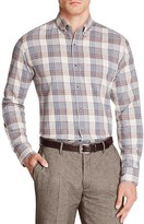 Hardy Amies Flannel Plaid Slim Fit Button Down Shirt