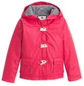 Petit Bateau Girls duffle-coat style hooded rain jacket