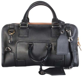 Loewe Black Leather Bolso Amazona 28 Bag