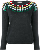 Marco De Vincenzo bow embellished knit - women - Polyester/Wool - 40