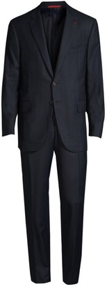 Isaia Classic-Fit Tonal Stripe Two-Button Wool Suit