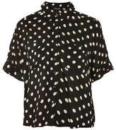 Topshop Polka dot print shirt