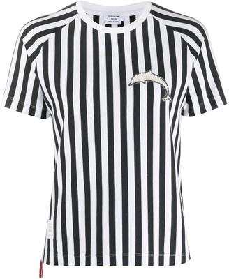 Thom Browne dolphin-motif striped T-shirt