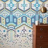 west elm Fading Tile Mosaic Mural Wallpaper