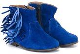 Pépé fringed boots - kids - Goat Skin/Leather/rubber - 25